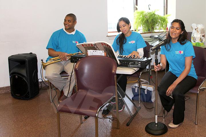 WeLoveU musicians entertain guests at Bergen County homeless shelter