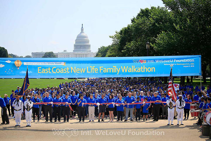 The starting line at the East Coast New Life Family Walkathon