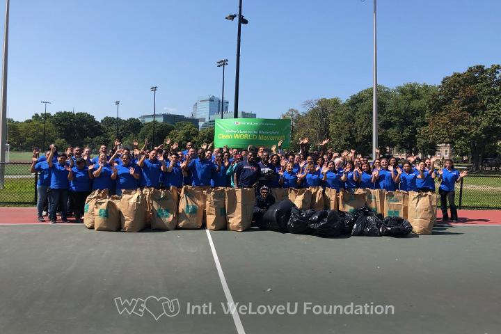 WeLoveU volunteers clean Back Bay Fens in Boston, MA