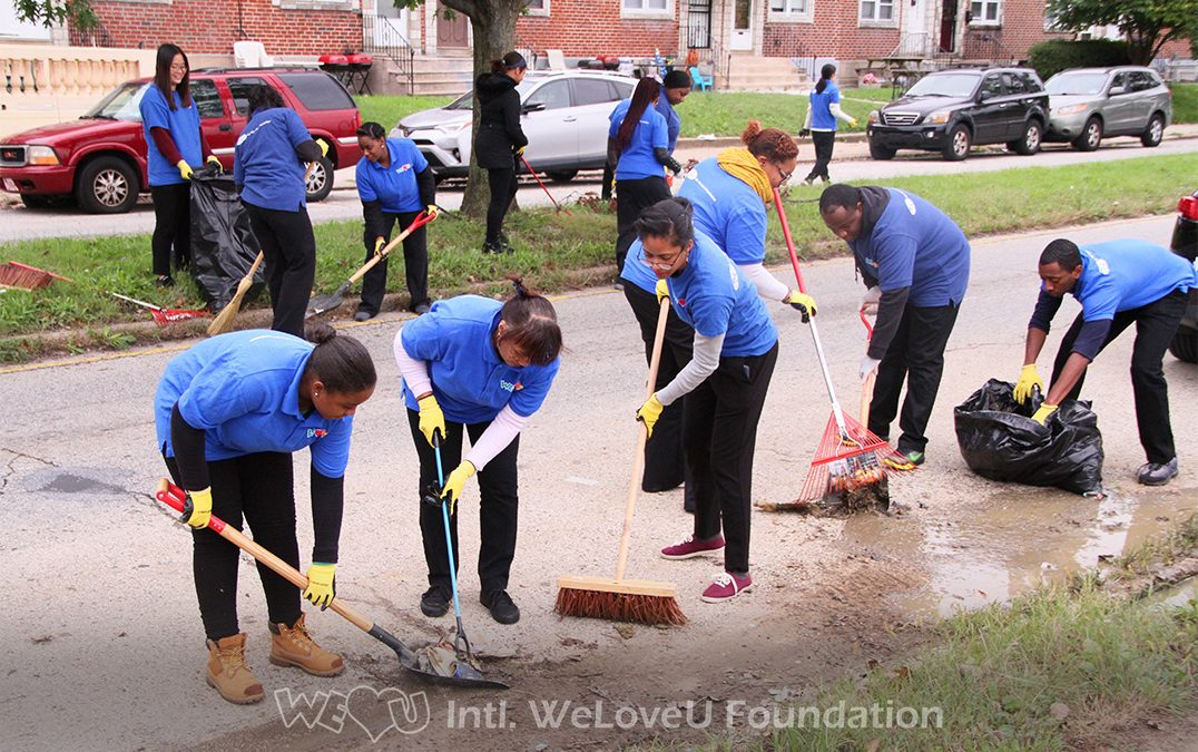 WeLoveU Volunteers Tackle Philadelphia's Litter on Summerdale Avenue