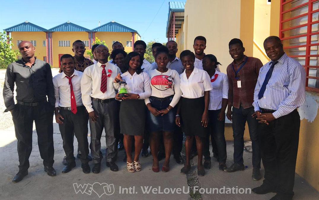 WeLoveU Visits #BrightHaiti Solar-Lantern Recipients