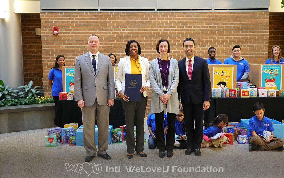 WeLoveU Donates More Than 1,600 Books to Christiana Children Hospital
