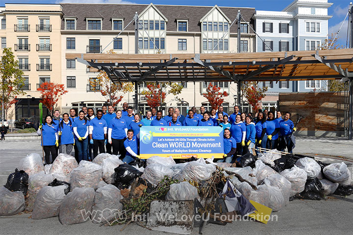 WeLoveU volunteers conduct Suffolk County Street Cleanup.