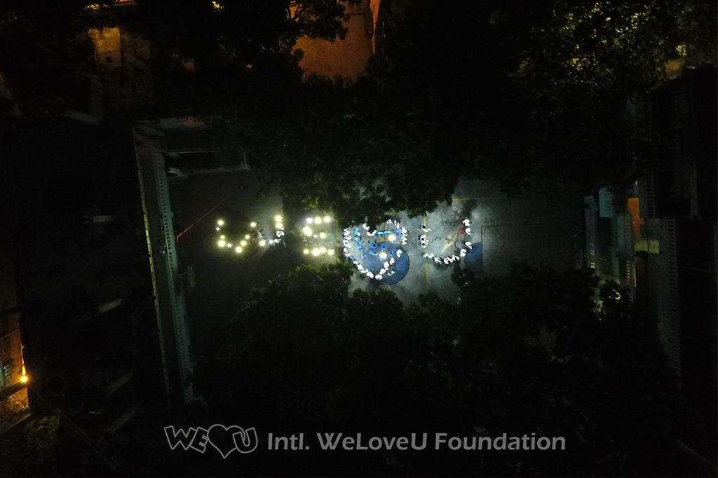 Recipients of The #BrightHaiti solar-powered lanterns