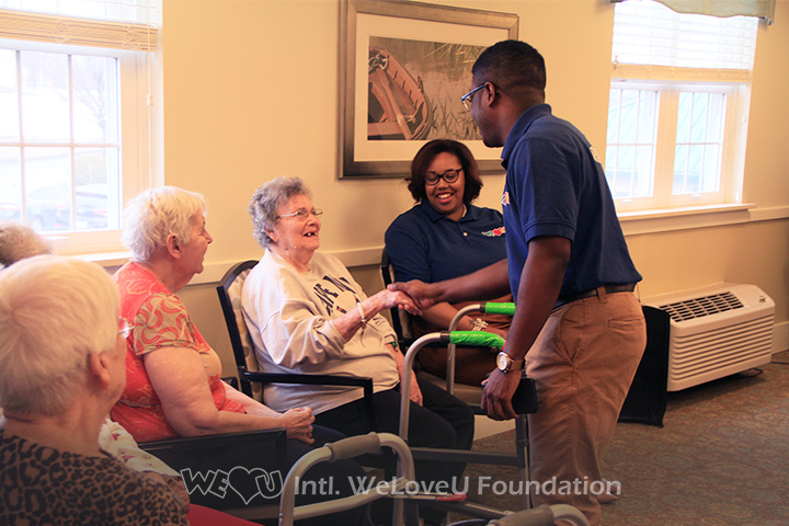 WeLoveU volunteers perform and entertain at Willow Grove in Montgomery County, PA.
