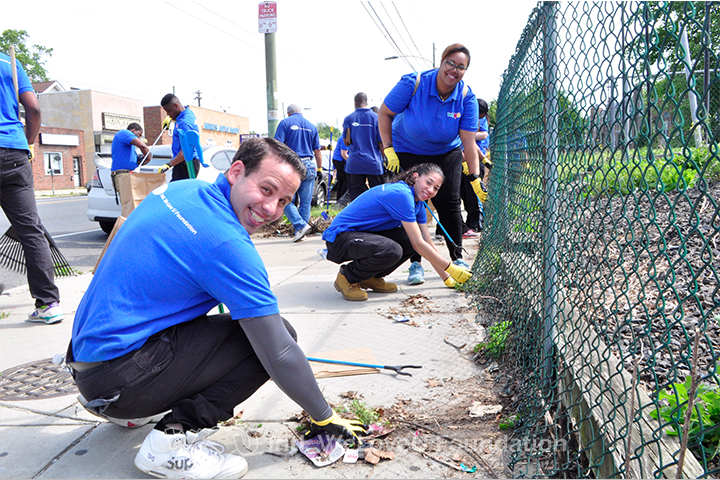WeLoveU, Volunteers, WeLoveU Foundation, Castor Avenue, Cleanup, State Rep Jared Solomon