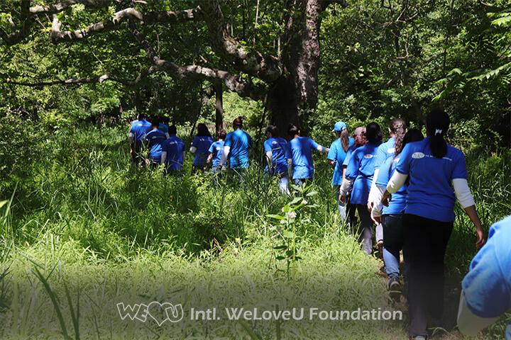 Volunteers spreading across the park