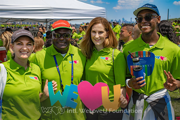 Ambassador of Mozambique to the US pictured with WeLoveU volunteers and his son at the 23rd New Life Family Walkathon