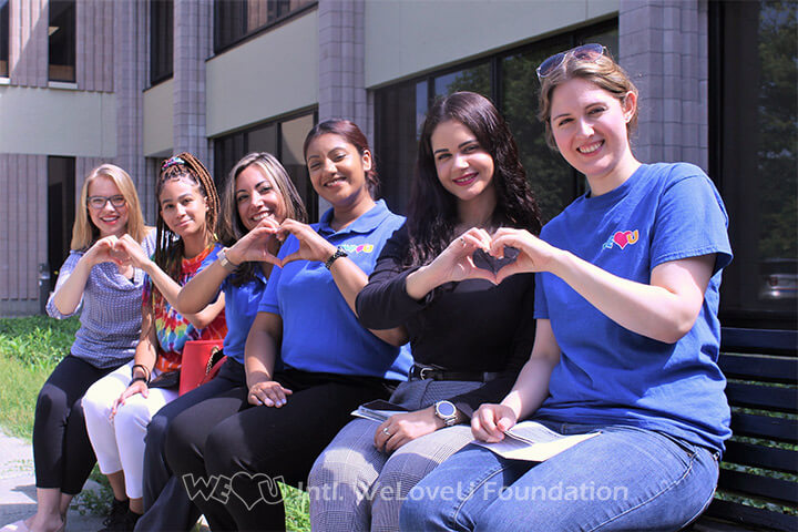 A group of volunteers before donating blood in partnership with the New York Blood Center.