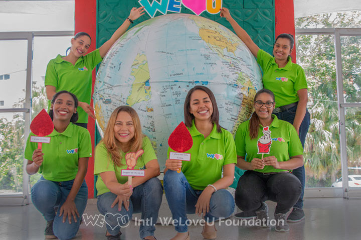 Group of WeLoveU blood donors in the Dominican Republic.