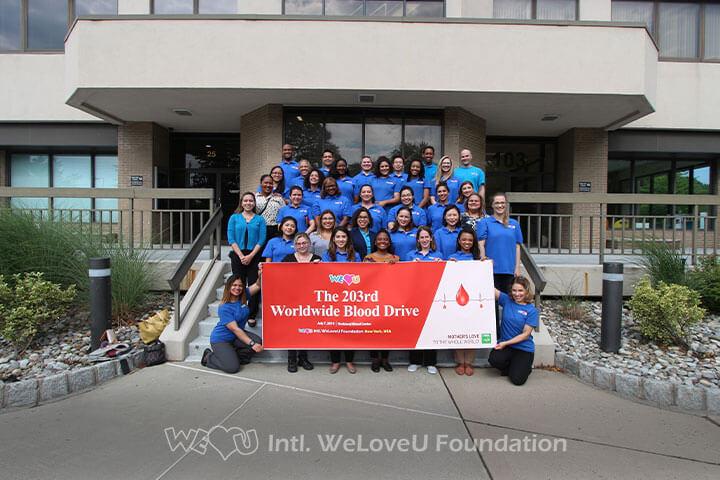 WeLoveU, Blood Drive, Nanuet, New York Blood Center, Worldwide Blood Drive