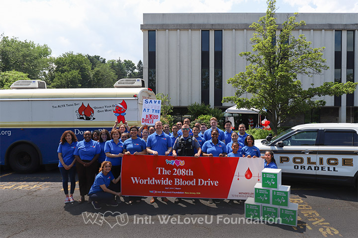WeLoveU Foundation, Blood Drive, Oradell, NJ