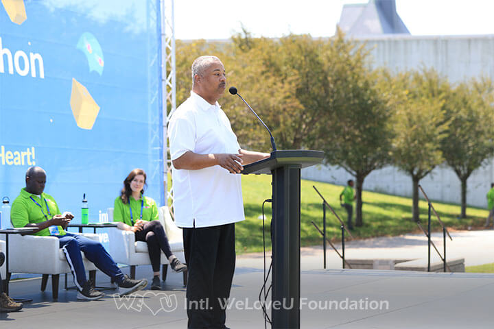 US Congressman Donald Payne Jr. speaking at the 23rd New Life Family Walkathon in Jersey City