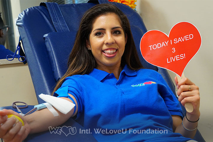 WeLoveU Foundation, Blood Drive, Inova Blood Donor Services, Saving lives