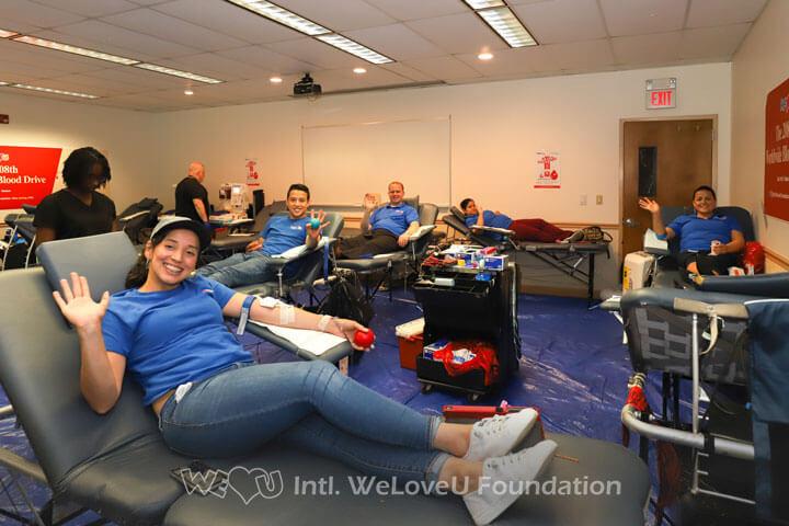 donating blood, volunteerism