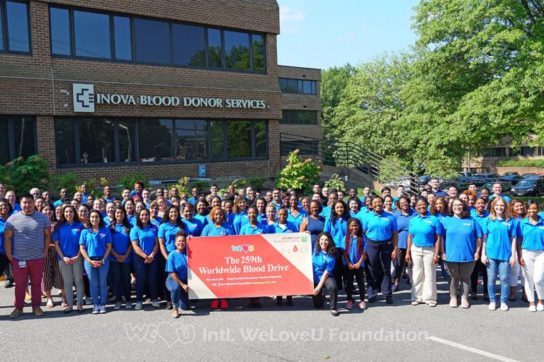 WeLoveU, Inova Blood Donor Services, Virginia, Worldwide Blood Drive