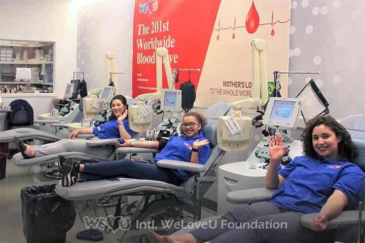 Donating blood, Volunteers, Blood Drive, WeLoveU