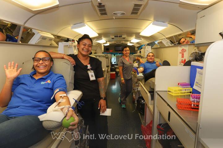 WeLoveU, Blood Drive, Donating blood, volunteers, Vitalant